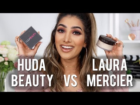 Huda Beauty EASY BAKE VS Laura Mercier Powder Review & Demo