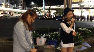 Pansy(森本菜々&MA'LIL)「I NEED YOU -愛されたい-」(宏実) 2014/09/27③ 京都 四条通河原町 京都タカシマヤ前