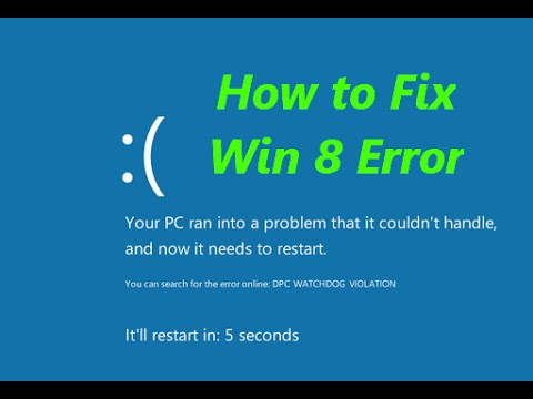 How To Fix Blue Screen Of Death Windows 8 Laptop How to Fix