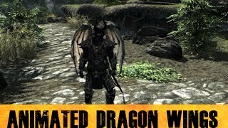 Skyrim Mods - Animated Dragon Wings
