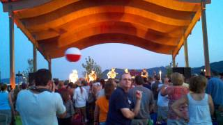 """Trampled by Turtles, performing """"Keys to Paradise"""" on 6.28.12 at Daleville Music Pavilion"""