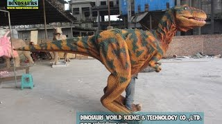 preview picture of video 'Hot sale life size dinosaur T-Rex costume DWE3324-18'