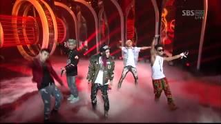 Big Bang - Intro (Alive) + Blue + Bad Boy + Fantastic Baby [SBS Inkigayo 120311]
