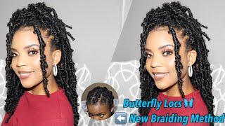 Crochet BUTTERFLY LOCS 😱😍 + New versatile / Individual Illusion braid pattern | Niseyo Braids