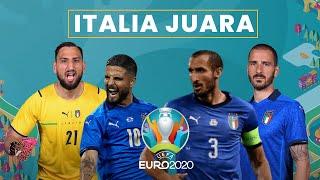 Highlight Italia Juara Euro 2020, Lawan Tim-tim Kuat & Kalahkan Inggris lewat Adu Penalti di Final