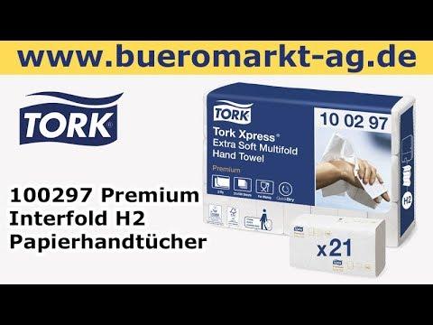 Tork 100297 Premium Interfold H2 Papierhandtücher