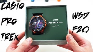Casio WSD-F20 Android Wear Watch Unboxing and Size Comparisons