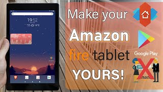 Turn your Amazon Fire Tablet into a Beautiful Device (Custom Launcher & Install Google Play Store)