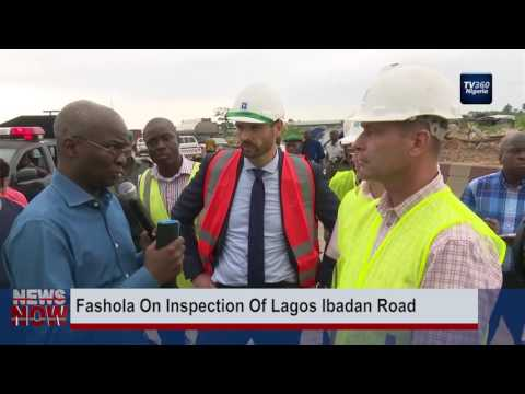 Fashola on inspection of Lagos-Ibadan road