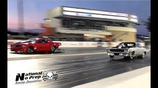 Fireball Camaro vs Megalodon in a drag race!! At Galot NC Street Outlaws Live event