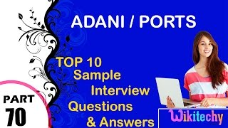 adani ports most important interview questions and answers for freshers