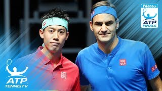 Nishikori stuns Federer; Anderson wins on debut | 2018 Nitto ATP Finals Highlights Day 1