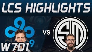 C9 vs TSM Highlights LCS Spring 2020 W7D1 Cloud9 vs Team Solo Mid LCS Highlights 2020 by Onivia