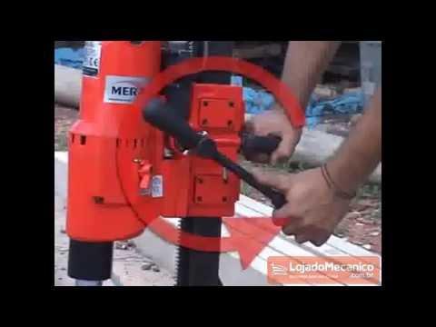 Perfuratriz Elétrico de Concreto Monofásico 2600W até 250mm  - Video