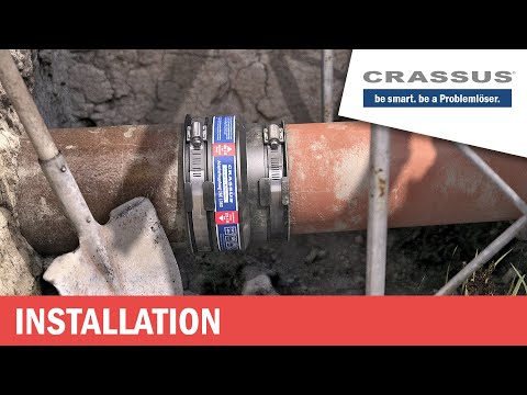 Crassus Adapterkupplung (vom Steinzeugrohr auf KG-Rohr)