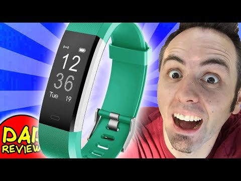 BEST CHEAP FITNESS TRACKER   LetsCom Fitness Tracker Watch Unboxing & First Look Review