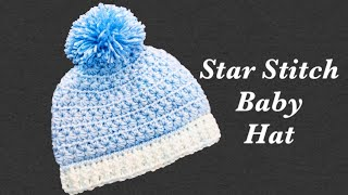 How To Crochet Newborn Baby Crochet Beanie Hats With Star Stitch Fast And Easy Crochet For Baby #166