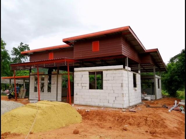 จัดสวน บ้านทรงไทย