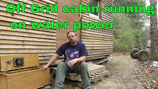 Water Generator Running Off Grid Cabin