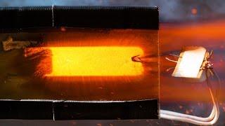 See Through Model Rocket Engine Burning - 4K Slow Motion