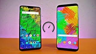 OnePlus 6 vs Samsung Galaxy S8 Plus - Speed Test!