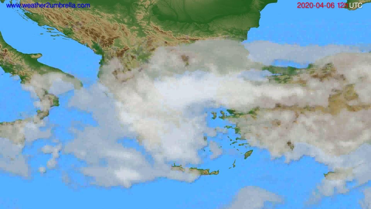 Cloud forecast Greece // modelrun: 00h UTC 2020-04-06