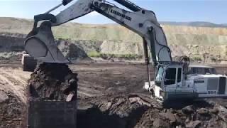 Liebherr 984 Excavator Loading Trucks - Sotiriadis Brothers