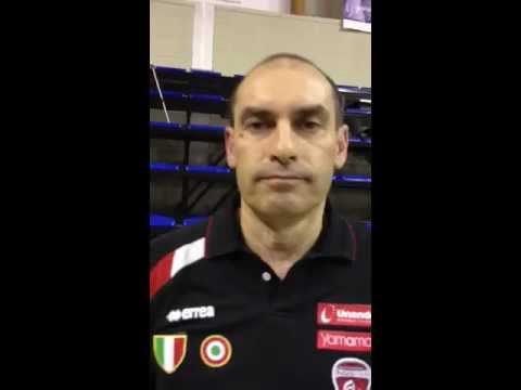 Coach Parisi felice per la vittoria