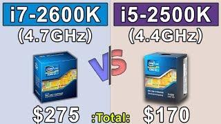 i5 2500K (4.4GHz) vs i7 2600K (4.7GHz) | New Games Benchmark