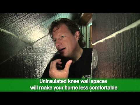 On this episode of Dr. Energy Savers' On the Job video series, owner and founder Larry Janesky, discusses the significance of insulating and air sealing the knee wall space and demonstrates the proper methods within this home.