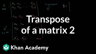 Linear Algebra: Transpose of a Matrix