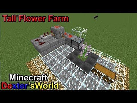 simple tall flower farm minecraft project