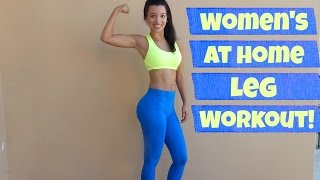 Women's At Home Leg Workout! by BODiBiDAY Fitness