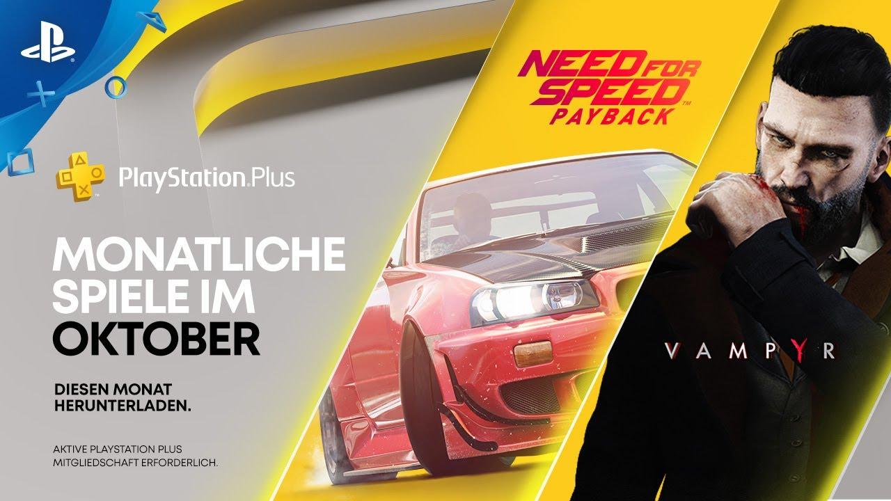 Need for Speed: Payback und Vampyr sind eure PS Plus-Spiele für Oktober
