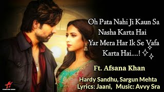 LYRICS:- TITLIYAN |BY-AFSANA KHAN |JAANI   - YouTube