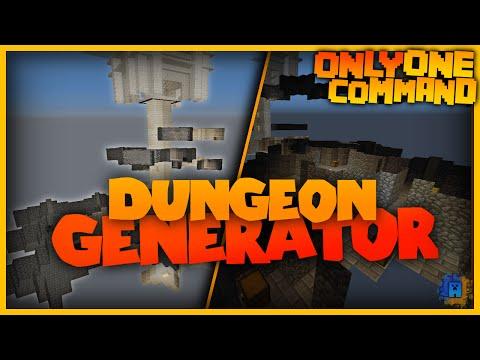 Dungeon Generator in one only command! | Random dungeons! Minecraft