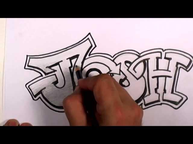 Graffiti writing josh name design how to draw graffiti name josh in graffiti writing josh name design altavistaventures Images