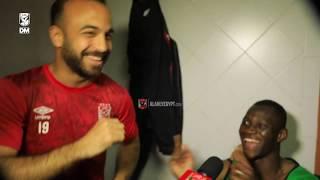 فرحة لاعبي #الأهلي 💥💥 بعد التأهل لدور نصف النهائي علي حساب صن داونز من بريتوريا 🇿🇦✌
