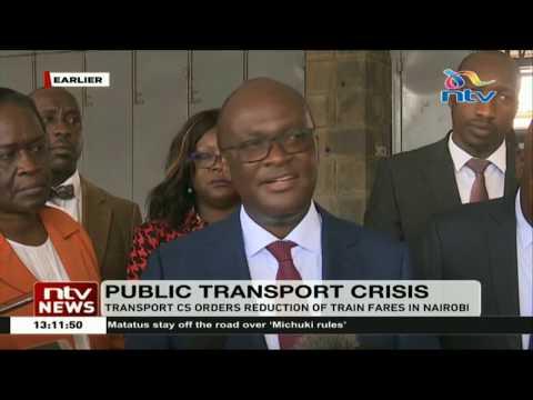 Transport CS James Macharia orders reduction of train fares in Nairobi