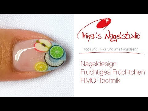 nailart fimo fruits - Nageldesign - Fruchtiges Früchtchen - Fimo Technik bei Irinas Nagelstudio