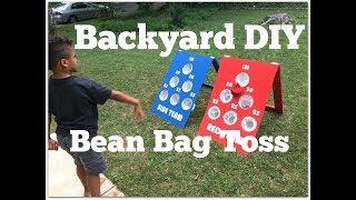 How to Make a DIY Bean Bag Toss Game - Outdoor Game Ideas - Thrift Diving