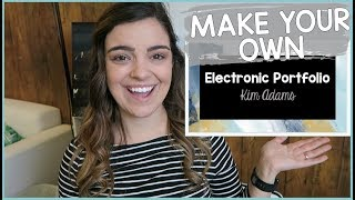 MAKE AN ELECTRONIC PORTFOLIO (HOW TO)   Elementary In The Mitten