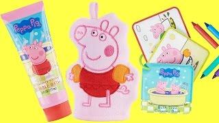 Pig Bubble Bath Soap, Mitt & Crayons