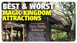 TOP 5 BEST & WORST Magic Kingdom Attractions | Best & Worst | 05/17/17