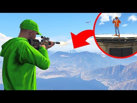 HOW FAR Is The LONGEST SNIPE In GTA 5?!