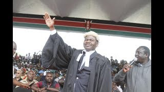 Latest update on TJ Kajwang's case on Raila's 'swearing in'