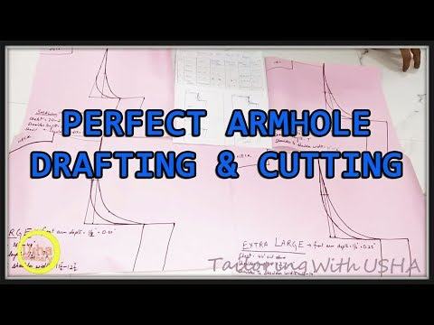 Perfect Armhole Drafting | Armhole Drafting For All Sizes(Small,Medium,Large & Extra Large)
