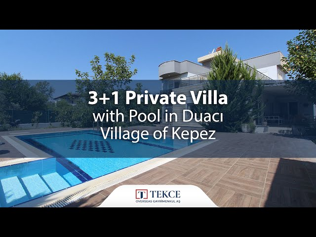 3+1 Private Villa with Pool in Duacı Village of Kepez