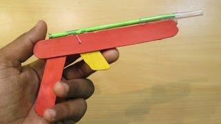 How To Make A Mini Dart Gun Using Popsicle Sticks That Shoots   Easy Pop Stick Gun Tutorials
