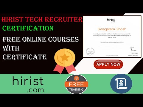 Hirist Tech Recruiter Certification | Free Online HR Course with ...